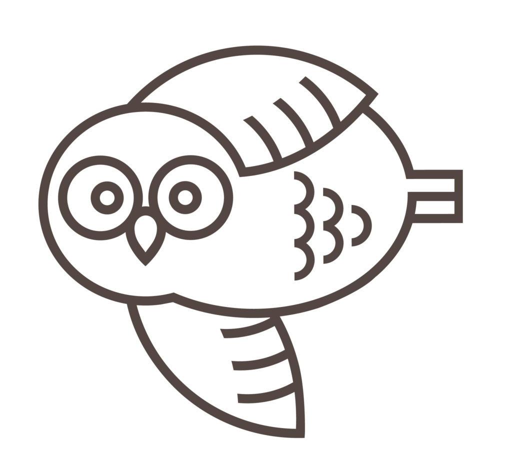Mascot Owl Flying Left