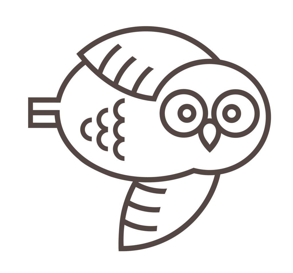 Mascot Owl Flying Right