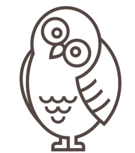 Mascot Owl Facing Left