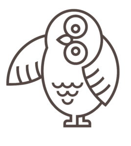 Mascot Owl Right Wing Extended
