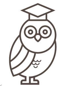 Mascot Owl Graduate