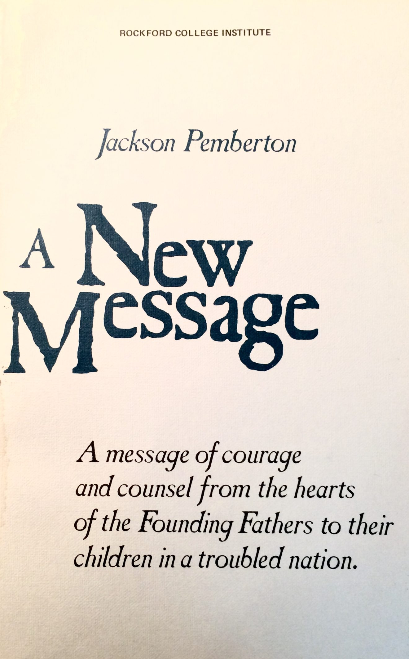 A New Message cover