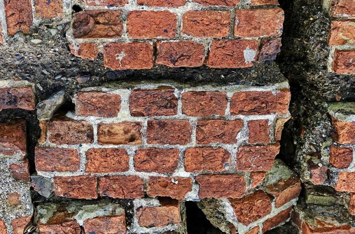 brick wall ruin
