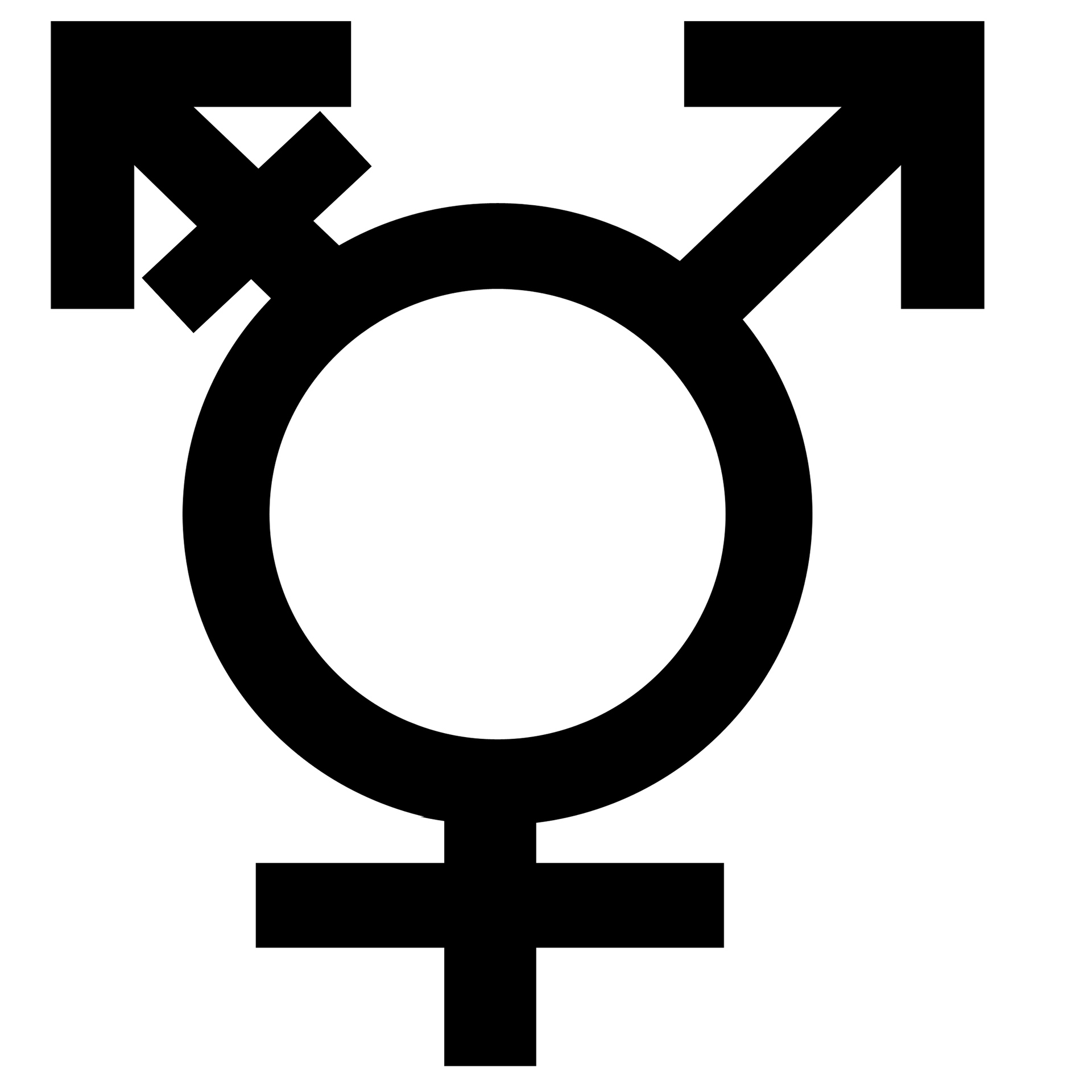 Three gender symbol