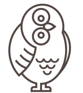 Mascot Owl Facing Right