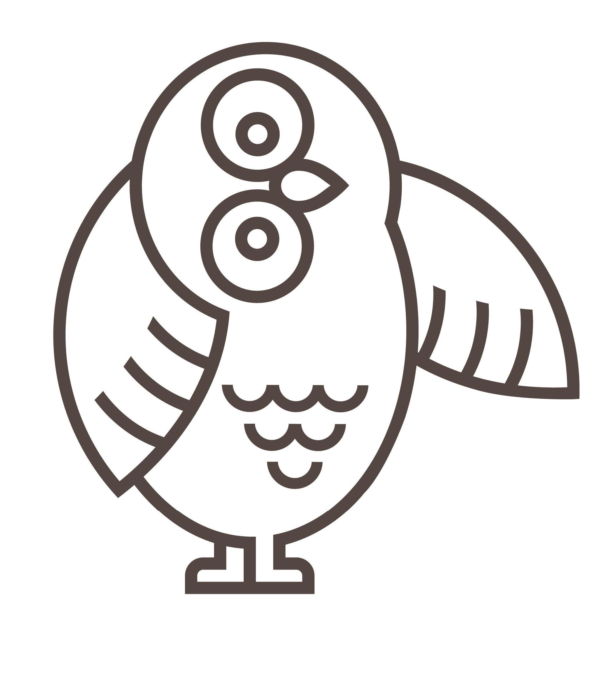 Mascot Owl Left Wing Extended