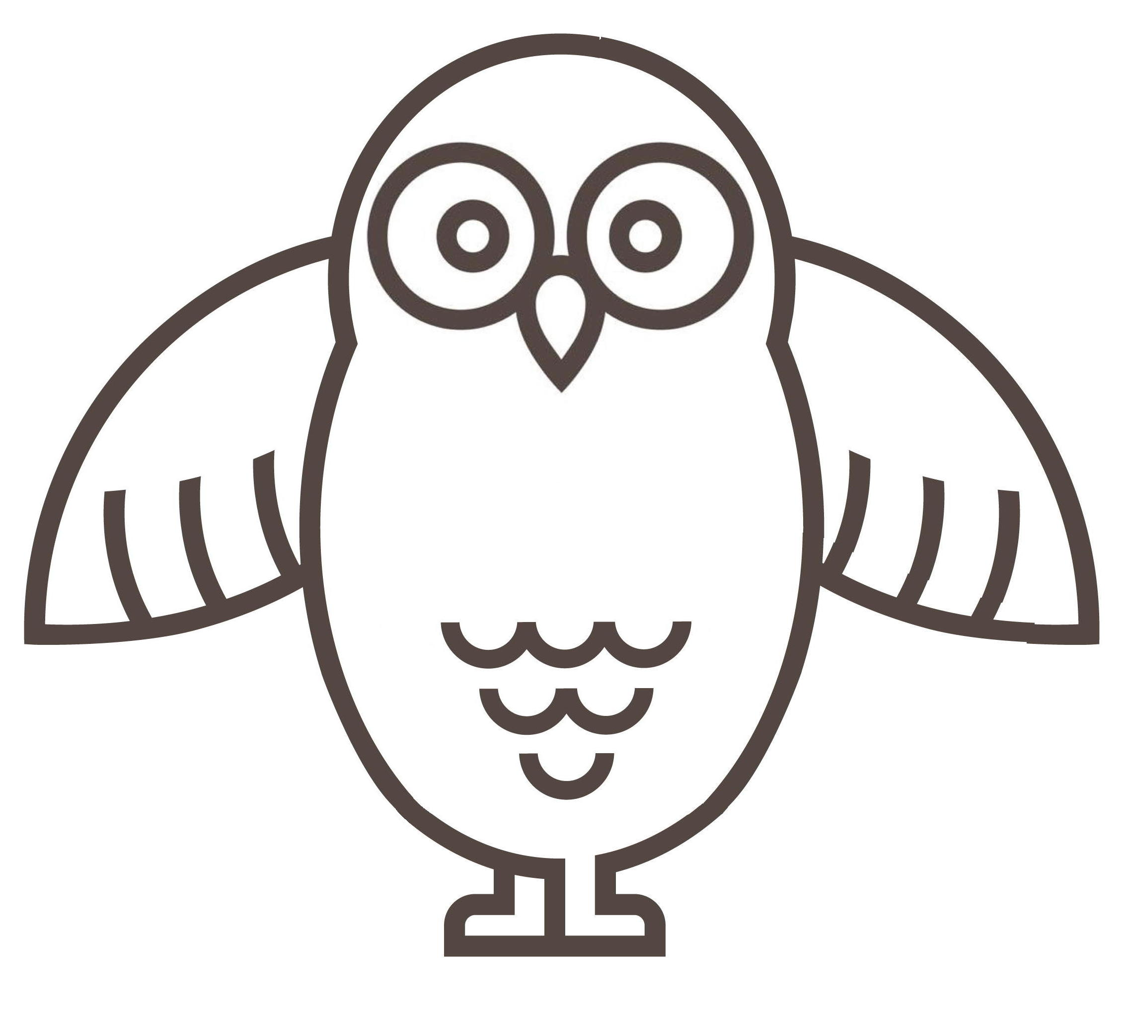 Mascot Owl Wings Out