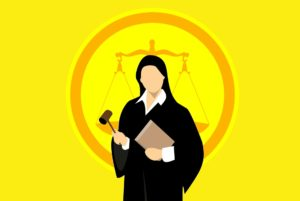 Court judge in robes