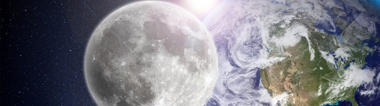 Moon, Earth, and Sun