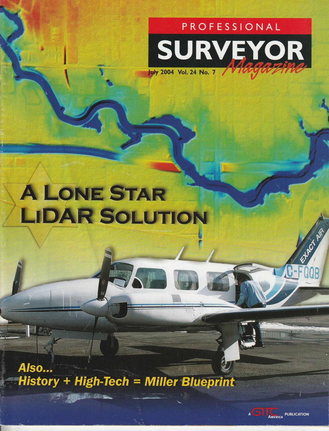 Cover of Professional Surveyor magazine, July 2004